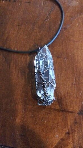 Collier et pendentif arbre de vie en pierres naturelles