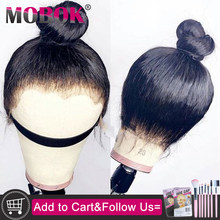 Mobok 360 Lace Frontal Human Hair Wigs For Women Pre Plucked Hairline With Baby Hair 150% Remy Brazilian Straight Hair(China)