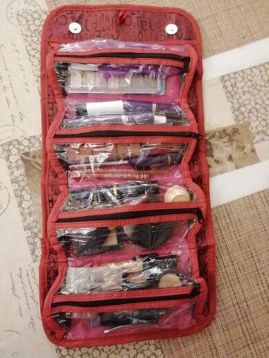 Bolsas p/ cosméticos pendurado mulheres zipper