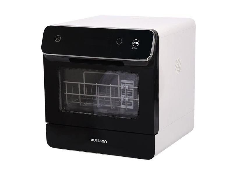 Посудомоечная машина Oursson DW4001TD - компактная, сенсорная панель, 6 программ, 5л воды, для небольшой кухни