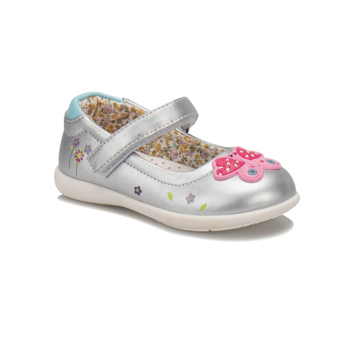 FLO HLL362-35003 Silver Girl Children Shoes Balloon-s