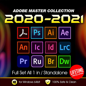 ⚡Adobe Creative Cloud 2021 и 2020 Master Коллекция Windows | Полная версия | Пожизненная активация | ️Многоязычная⚡