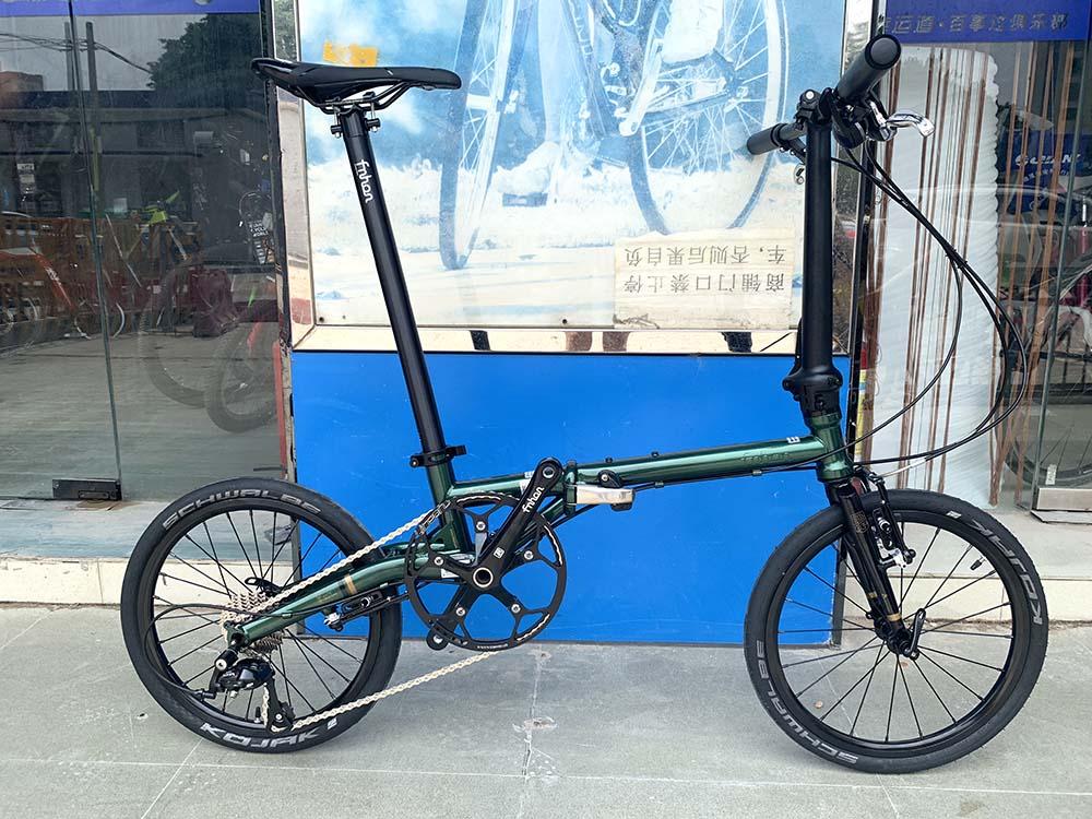 "Ue8842874a7f843668b4e4287e6888f28b Fnhon Gust CR-MO Steel Folding Bike 16"" 305 349 Minivelo Mini velo Bike Urban Commuter Bicycle V Brake 9 Speed"