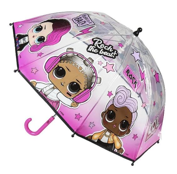 Umbrella Clear Bubble LOL Surprise Handbook 45 Cm.