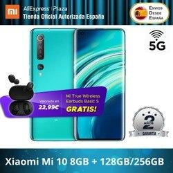 Xiaomi Mi 10 5G (8GB de RAM de 128GB ROM/256GB ROM GB RAM 4 8G/5G Snapdragon™865) [Teléfono Móvil Versión Global parágrafo España]
