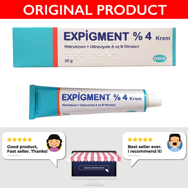 Expigment Hydroquinone 4% Cream For Skin Bleaching Skin Lightening Skin Melasma Treatment 30g/1oz (3 Pack) - Best Price 3