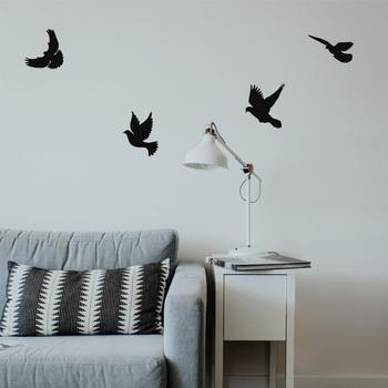 Metal Wall Art, Metal Birds Art, Metal Wall Decor, Metal Birds Decor, Housewarming Gift, Birds Flock Wall Art фото