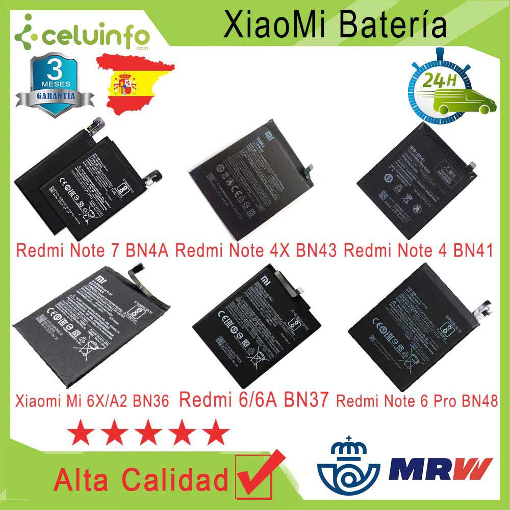 New Battery Original For Xiaomi Pocophone F1/My A1 5S + 5X6/note Redmi 6 7 Note 3 Pro Note 5A NOTE 7 Shipping From Spain