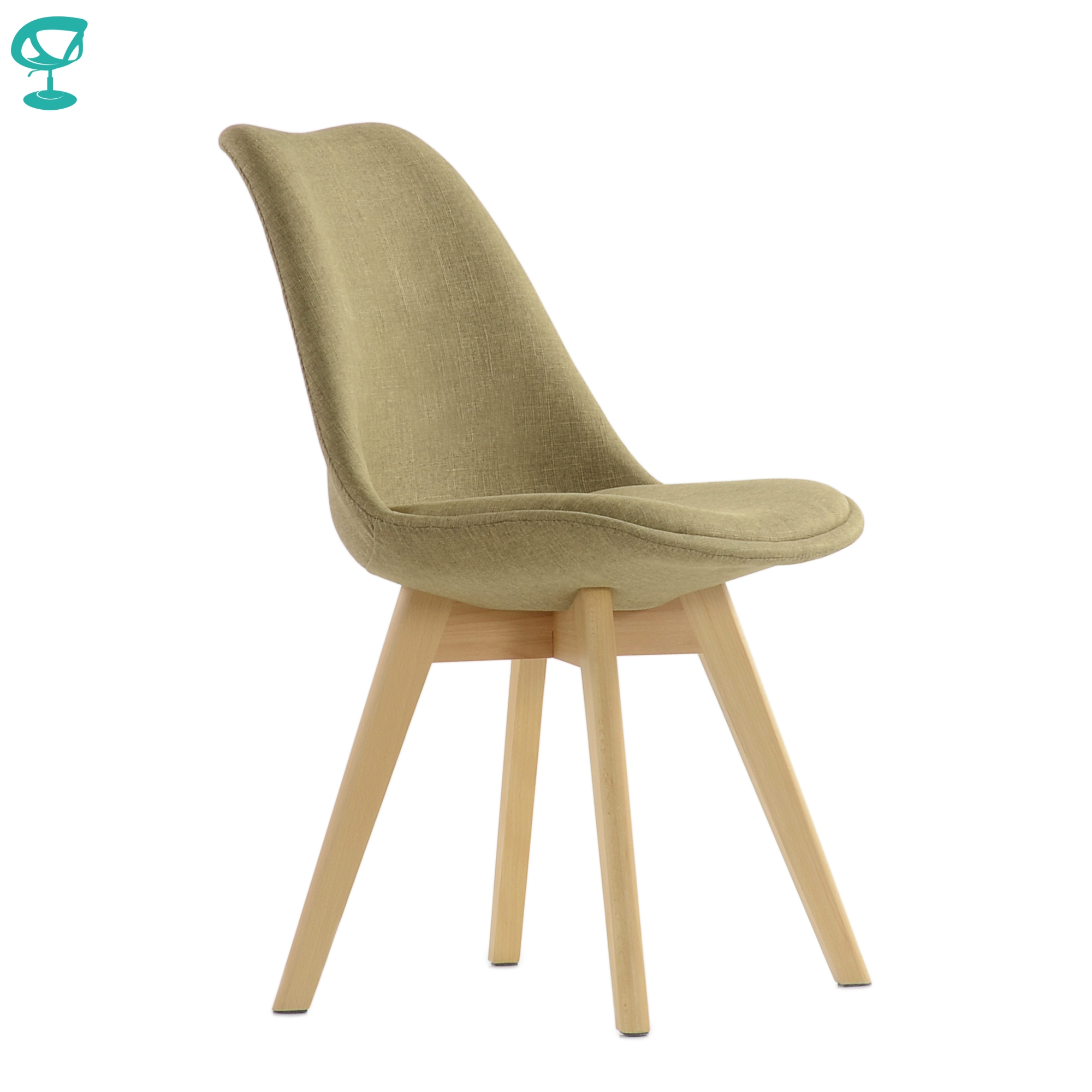 95735 Barneo N-22 Kitchen Chair On Wooden Base Seat Fabric Chair For Living Room Chair Dining Chair Furniture For Kitchen