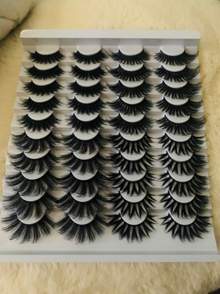 HBZGTLAD 20 pairs natural false eyelashes fake lashes long makeup 3d mink eyelashes eyelash extension mink eyelashes for beauty