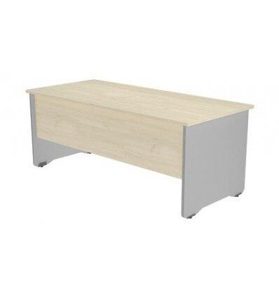 OFFICE TABLE SERIALS WORK 200x80 ALUMINUM/BEECH