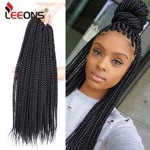 Leeons Box вязаные крючком волосы высокого качества синтетические волосы 12 дюймов Короткие вязаные крючком волосы красивые плетеные волосы для...