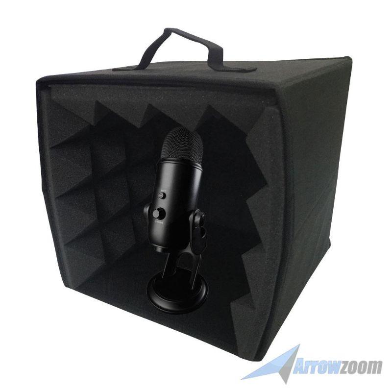 arrowzoom 10 6 x 10 6 x 11 cabine de microfone portatil estudio gravacao isolamento vocal