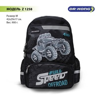 School backpack Dr. Kong Z 1258 for мальчикв