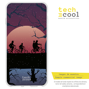 FunnyTech®Silicone Case skin cover for LG K8 2017 L Stranger Things forest silhouettes vers.3