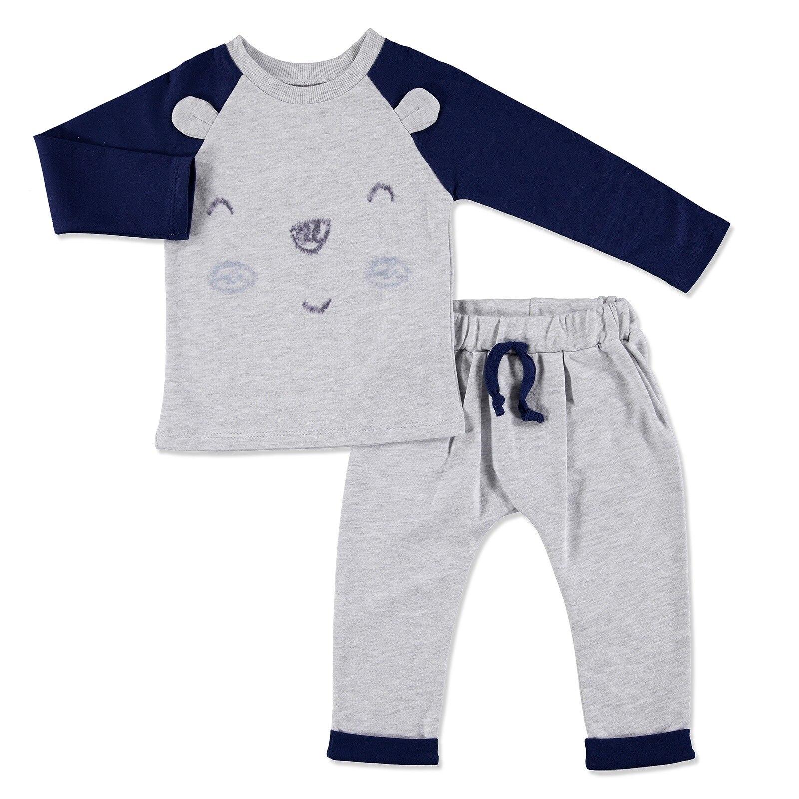 Ebebek Newborn Fashion Club My Toy Bear Friend Baby Sweatshirt Set