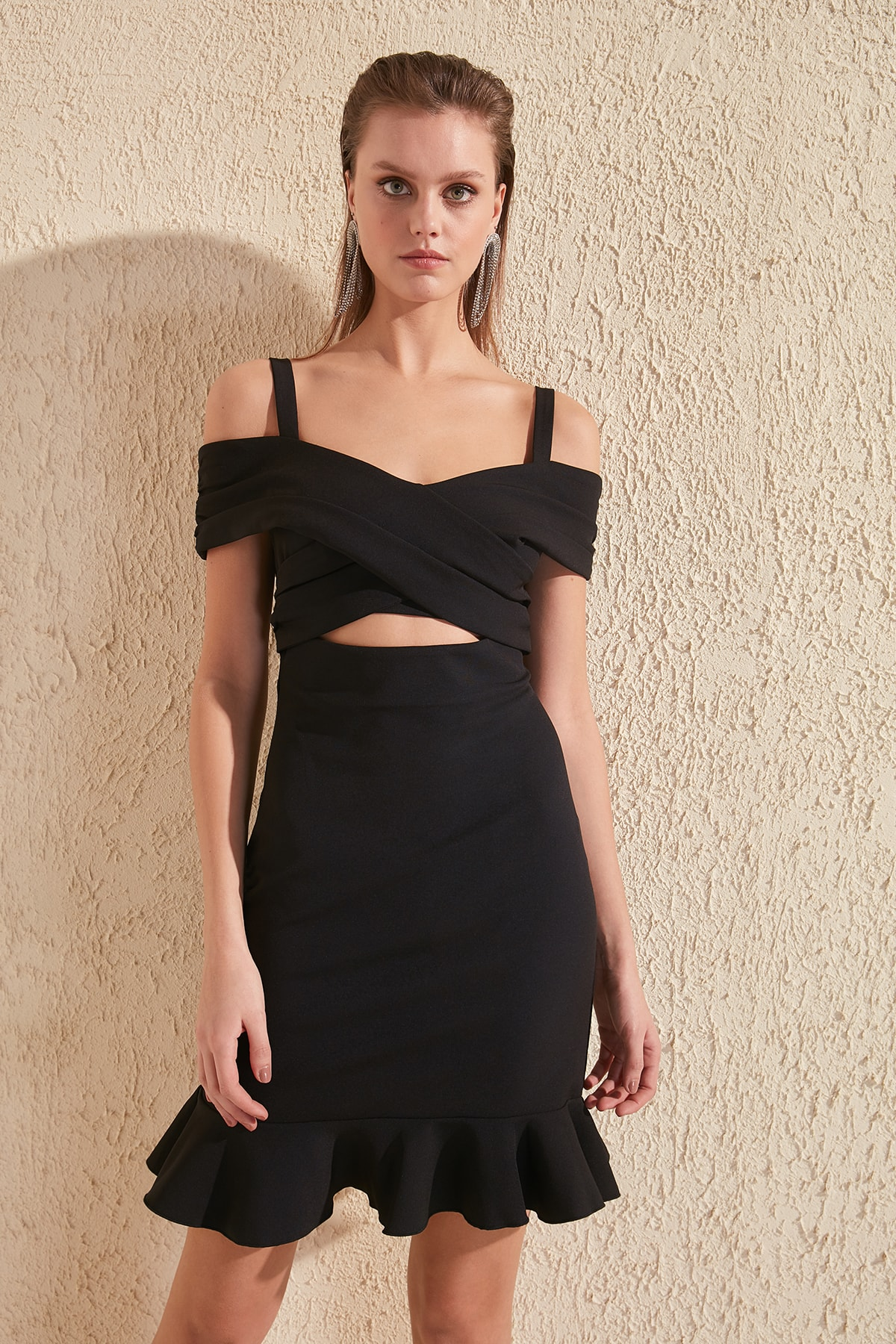 Trendyol Waist Low-Cut Dress TPRSS20EL0763
