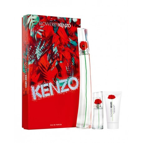 KENZO FLOWER EDP 100ML + MINI EDP 15ML + BODY LOTION 50ML