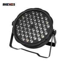 2 шт./лот LED 54x3 Вт RGBW LED Flat Par RGBW, смешивание цветов, DJ, мытье, сценическое освещение, KTV, дискотека, DJ DMX512