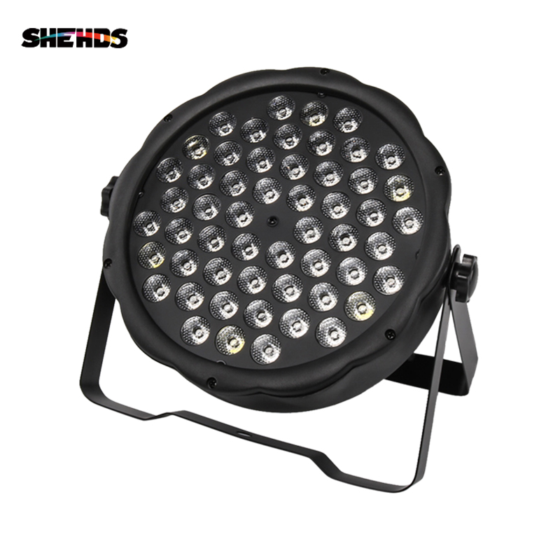 2pcs/lot LED 54x3W RGBW LED Flat Par RGBW Color Mixing DJ Wash Light Stage Uplighting KTV Disco DJ DMX512