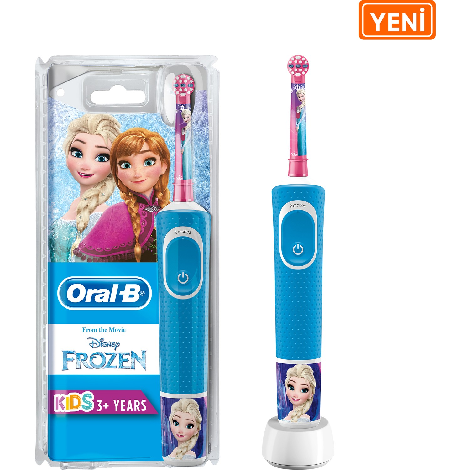Oral-B For Kids Rechargeable Toothbrush D100 Frozen Special Series, Can Be Customized Temalı Decal, 8 day Charge Kapasitesi()