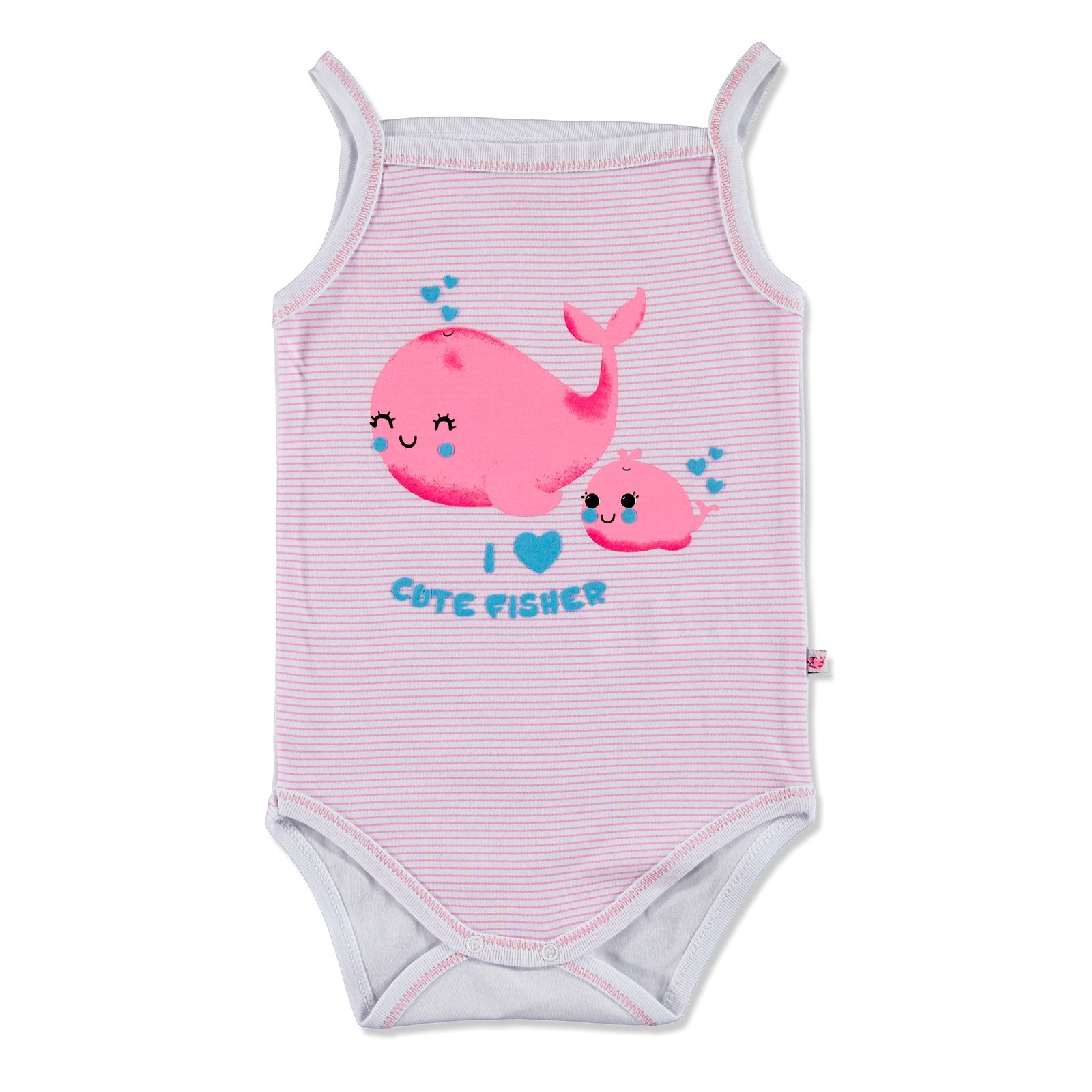 Ebebek Carmin Baby Summer Girl Cute Whale Bodysuit