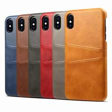 Luxury Leather PU Phone Case For iPhone 11 Pro MAX Ultra Slim Wallet Card Back Cover For iPhone X XS XR XSMAX 8 7 6 6S Plus Capa new for iphone 11 pro max case xs max xr for iphone x 6 7 8 plus 6s luxury vintage pu leather back ultra thin case cover coque