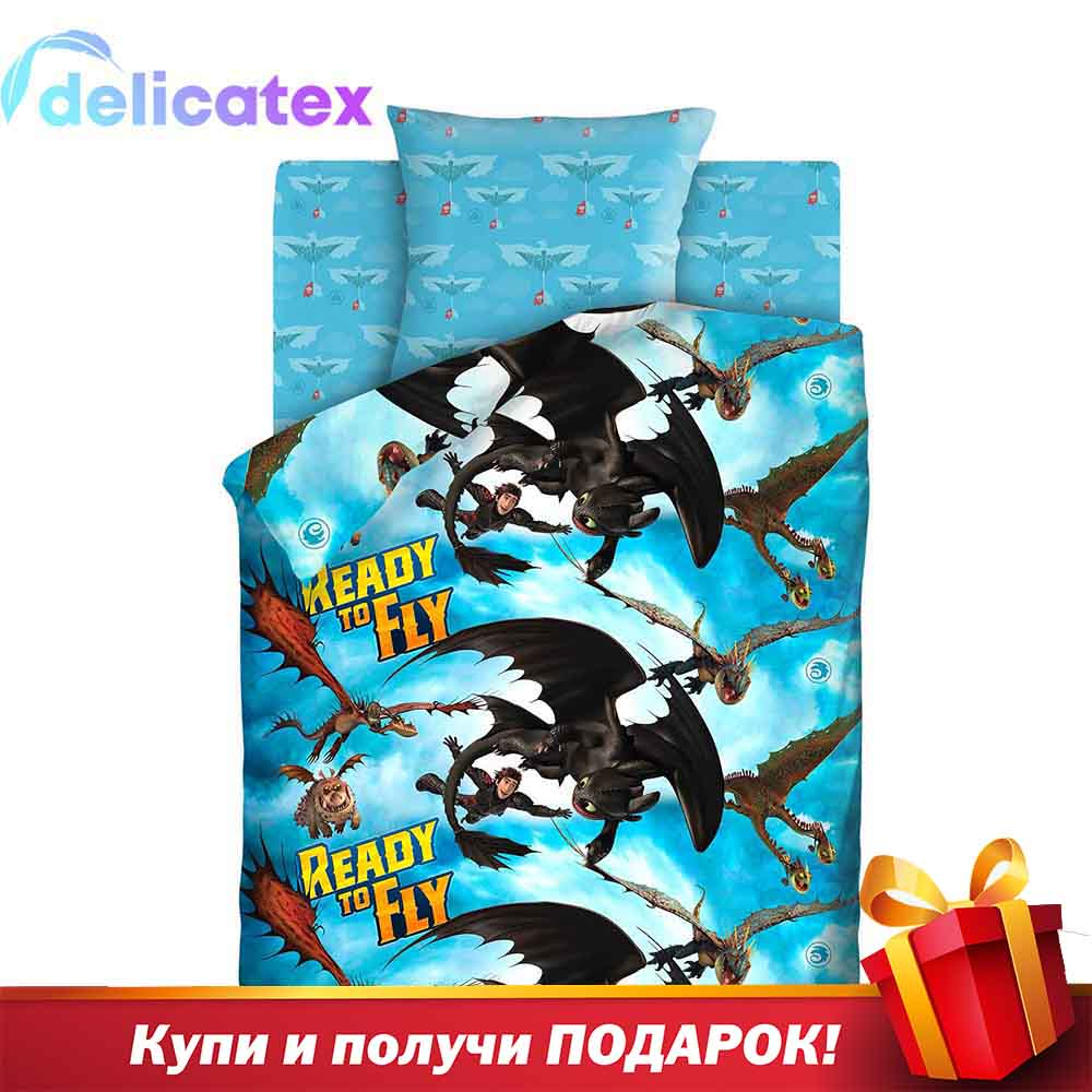 Bedding Sets Delicatex 16131-1+16132-1 Bezzubik I Ikking Home Textile Bed Sheets Linen Cushion Covers Duvet Cover Baby Cotton