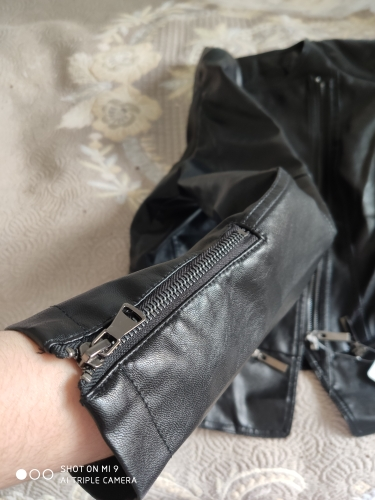 Punk Egirl Motorcycle PU Leather Jacket photo review