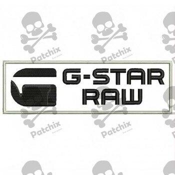 G-STAR RAW Iron Patch Toppa Ricamata Gestickter Patch Brode Remendo Bordado Parche Bordado