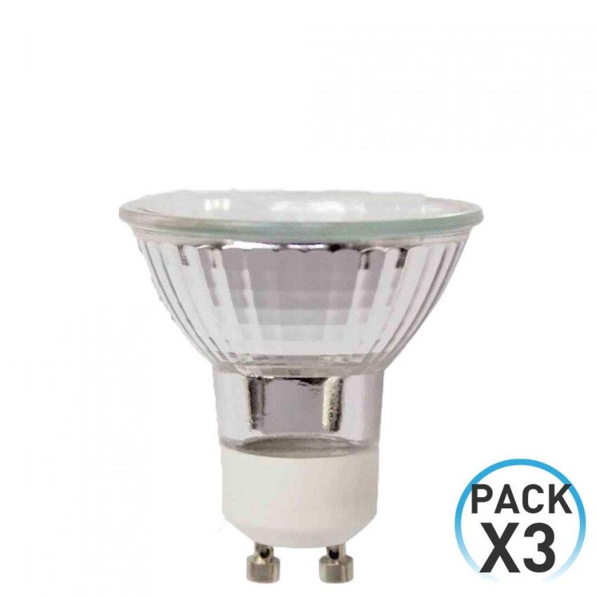 Pack 3 Halogen Bulbs Spotlight GU10 35W 480lm 2900K 7hSevenOn