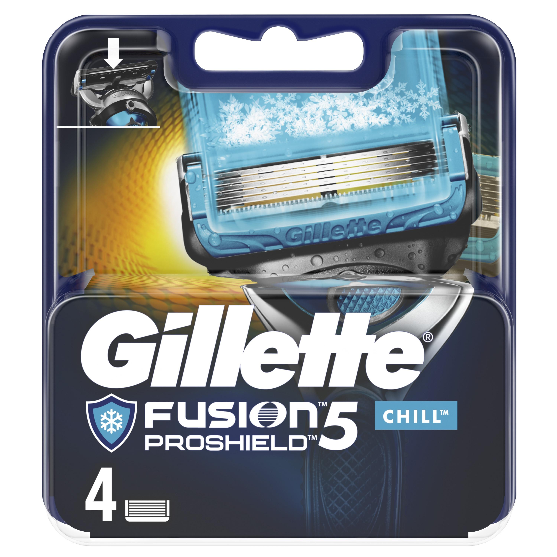 Gillette Fusion5 ProShield Chill Replacement Cassettes 4 pcs. цена 2017