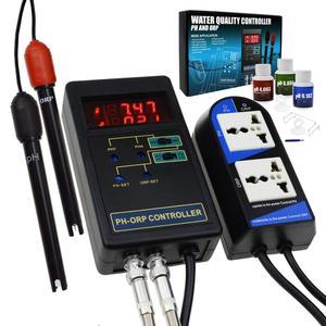 2 em 1 tipo separado 14.00ph/1999mv do elétrodo redox do controlador repleaceable de digitas do ph & de orp bnc dos relés com solução da calibração