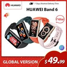 Huawei-pulsera inteligente Band 6, reloj inteligente con pantalla LED, control del ritmo cardíaco y del sueño, oxígeno en sangre, versión Global