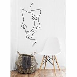 Metal Wall Art, Line Wall Art, Metal Wall Art, Interior Decoration, Wall Hangings, Metal Wall Art, Minimalist Art, 2 Faces