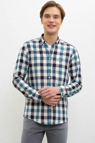 U.S. POLO ASSN. Green Square Regular Shirt