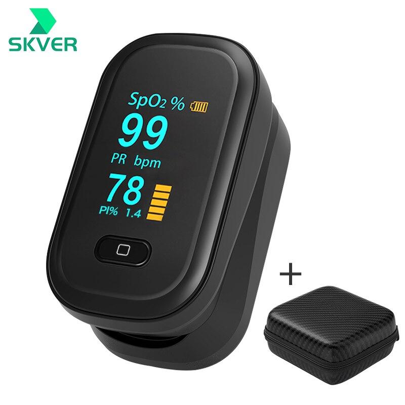 пульсоксиметр на палец оксиметр на Палец пульсометр на палец Пальчиковый SPO2 PR, цифровой измеритель пульса и уровня кислорода в крови, с OLED э...