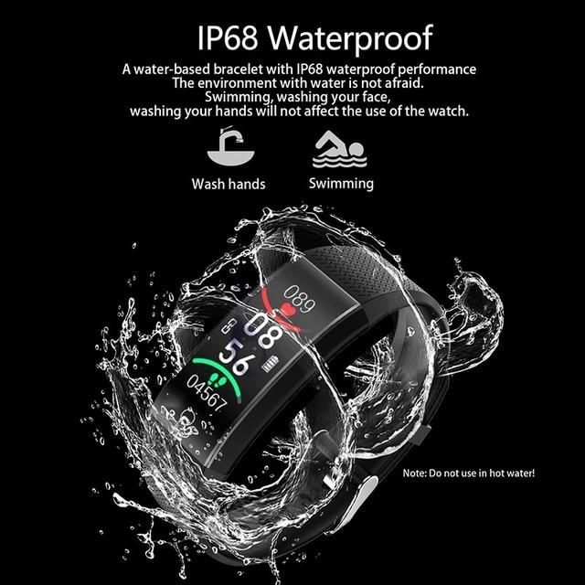 Body Temperature Detection Smart Bracelet Immunity Measure Blood Pressure Heart Rate Fitness Bracelet IP68 Waterproof Russian 3