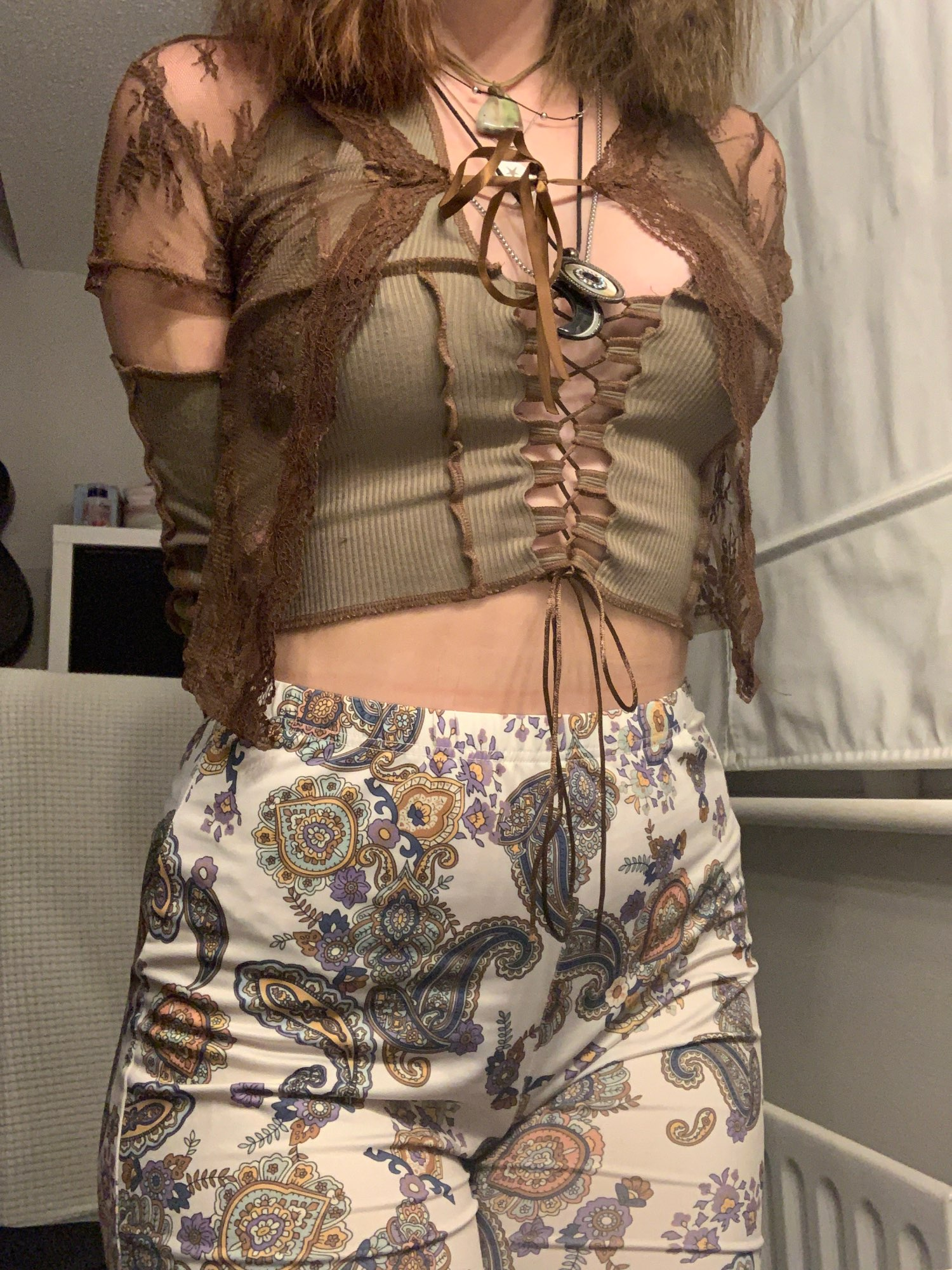 Soft girl Y2K Lace Crop Top photo review