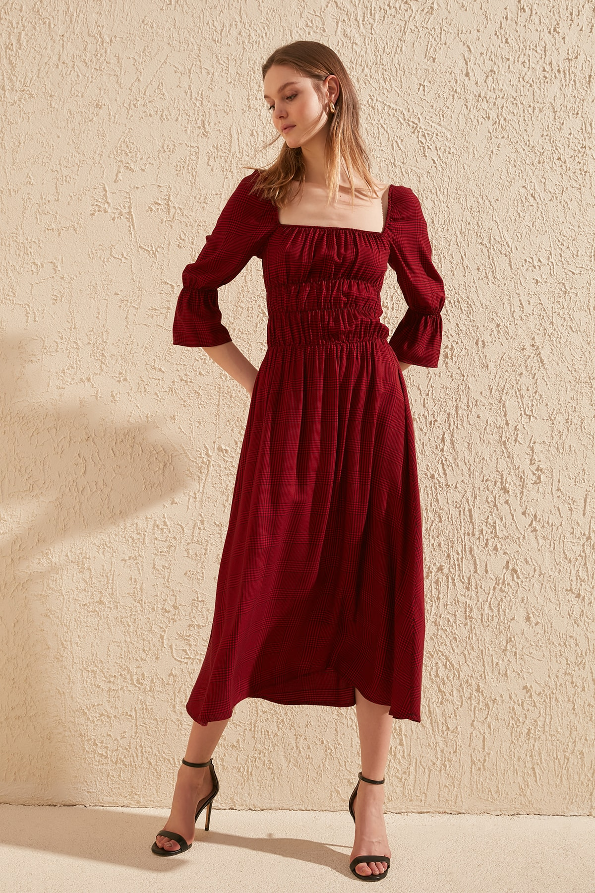 Trendyol Square Collar Dress TWOSS20EL0955
