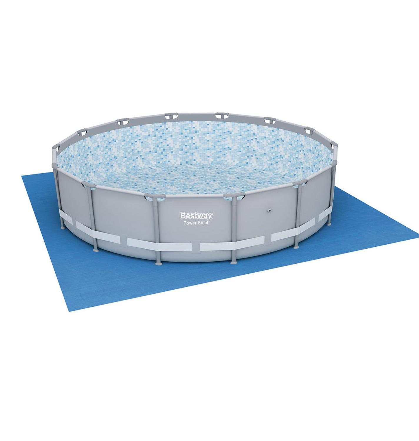Mat Under The Pool, 488 х488 Cm, Accessory For Swimming Pool, Substrate, Protect The Bottom Basin, Bestway, Item No. 58003