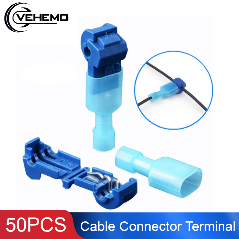 Vehemo 50PCS Cable Connector Terminal Wire Connector Replacement For Snap Tap Electric Wire For Accessories
