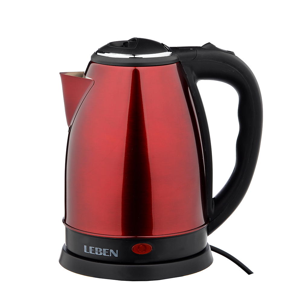 KETTLE ELECTRIC 1, 8 L LEBEN, 1500 W, STAINLESS STEEL,