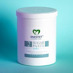 Pasta de azúcar para Sugaring ANESTET, suave 2, depilación de 1500 gr, depilación facial, depilación, utensilio para eliminar el vello facial, cera de depilación