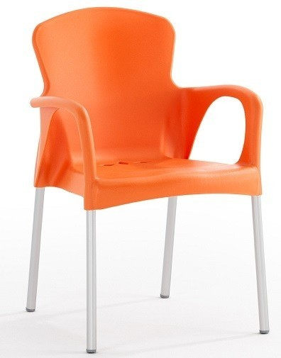 Armchair SEINE Stackable Polypropylene Orange *