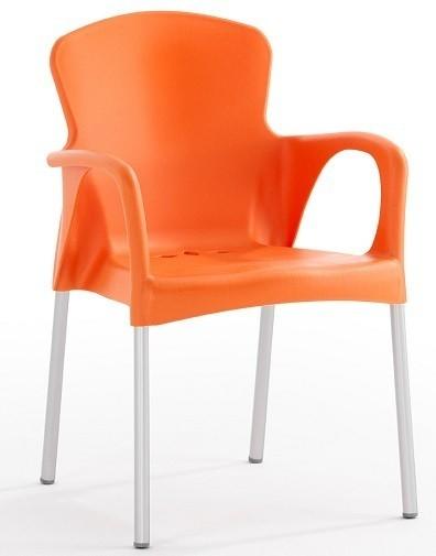Armchair SEINE Stackable Polypropylene Orange *