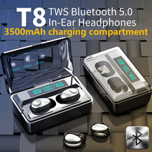 Nova exibição digital inteligente bluetooth 5.0 fones de ouvido sem fio 9d tws esportes estéreo à prova dwaterproof água fones com microfone