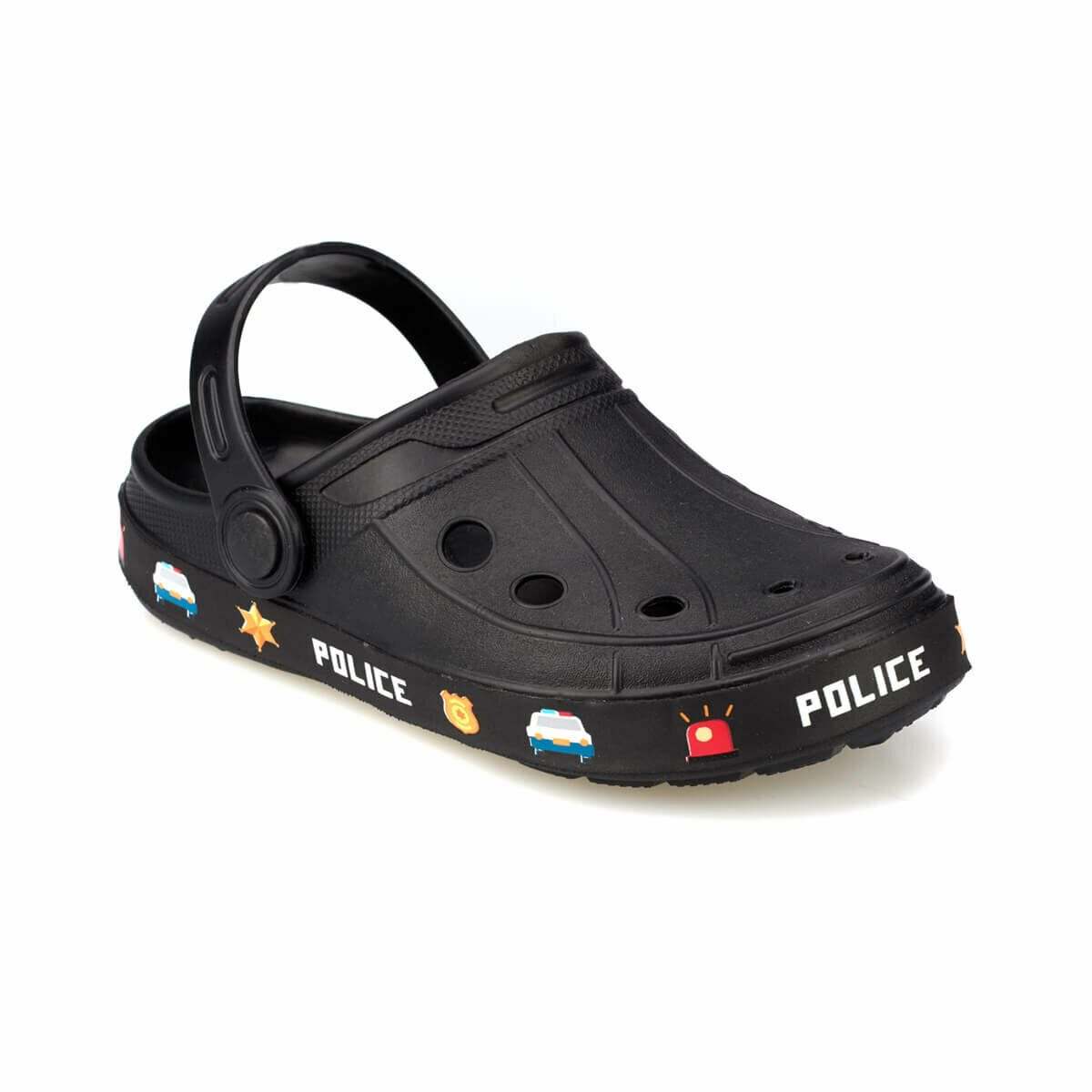 FLO RIBAS Black Male Child Slippers KINETIX