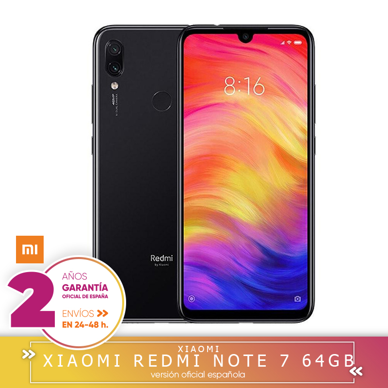 [Official Spanish Version] Xiaomi Redmi Note 7 Smartphone, screen HD + 6,3 (4 hard GB + 64 hard GB, Battery 4000 mAh, camera 48MP's) image