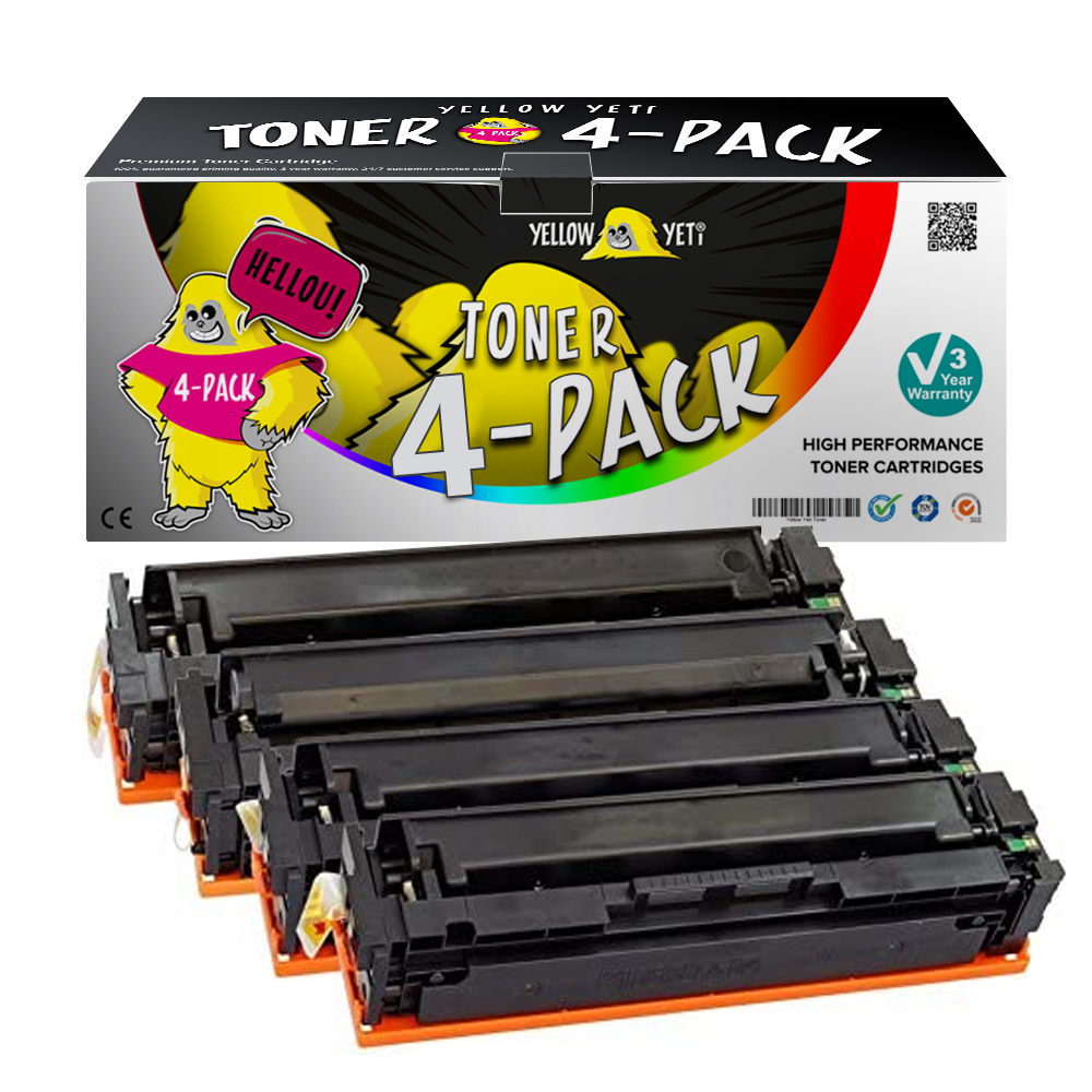 4pcs Compatible CF400 201X <font><b>Toner</b></font> Cartridge For <font><b>HP</b></font> Color LaserJet Pro M252dw M252n MFP M274n MFP <font><b>M277dw</b></font> MFP M277n <font><b>printer</b></font> image